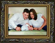 Our portrait painters complete your painting and frame it
